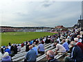 TA0389 : Cricket ground during the Festival, Scarborough by Ruth Sharville