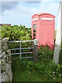 NF7862 : Baleshare: a red telephone box by Chris Downer
