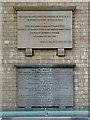 SK7953 : The Buttermarket, commemorative tablets  by Alan Murray-Rust