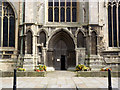 SK7953 : West entrance, St Mary Magdalene Church  by Alan Murray-Rust