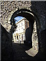 TQ4110 : Norman Gateway, Lewes Castle by Ian Yarham