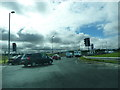 NT1272 : The A8 at the roundabout at Junction 1 of the M9 by Alexander P Kapp