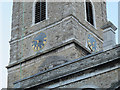 TQ3774 : Clock of St Mary the Virgin church, Lewisham by Stephen Craven