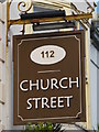 TQ3104 : Sign for 112 Church Street, BN1 by Mike Quinn