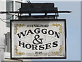 TQ3104 : Sign for The Waggon and Horses, Church Street / Jubilee Street, BN1 by Mike Quinn