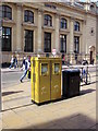 SO9522 : Olympic Gold Double Letter Box, Cheltenham Spa by Roy Hughes