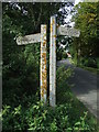 TL8041 : Footpath Posts by Keith Evans