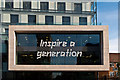 "TQ4378 : ""Inspire a generation""  by Ian Capper"