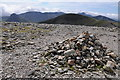 SH6662 : Cairn near the summit of Carnedd Dafydd by Philip Halling