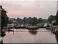 TQ1671 : Evening at Teddington Lock by Robin Webster