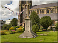 TQ1649 : St Martin's Churchyard, War Memorial by David Dixon