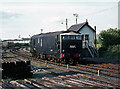 R3477 : Diesel locomotive passing Ennis north signal cabin by The Carlisle Kid
