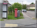 SK7952 : Hawton Road Post Office postbox (ref. NG24 71)  by Alan Murray-Rust