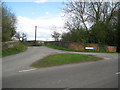 SP2185 : School Lane crosses dismantled railway by Robin Stott