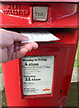 SE4104 : Darfield post office post box details by Steve  Fareham