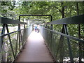 NO7094 : Metal footbridge over the River Feugh by Stanley Howe
