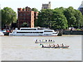 TQ3079 : Rowing Boats in The Great River Race by PAUL FARMER