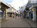 ST1587 : Caerphilly Shopping Precinct by David Dixon