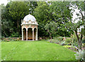 SK7755 : Gazebo and garden wall at Kelham Hall  by Alan Murray-Rust