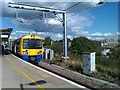 TQ2182 : &quot;London Overground&quot; train at Willesden Junction by David Martin