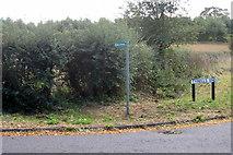 SP9833 : Footpath across the field by Philip Jeffrey