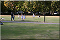 TQ2178 : Turnham Green:  Open space near the station by Dr Neil Clifton
