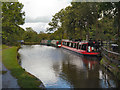 SJ9584 : Narrowboat Moorings, Macclesfield Canal by David Dixon