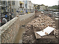 SX9372 : Flood wall under construction near the Ship Inn by Robin Stott