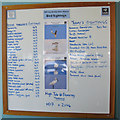 TG0544 : Bird sightings board, NWT Cley Marshes by Pauline Eccles