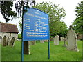 SU3146 : St Michael &amp; All Angels, Weyhill: churchyard (L) by Basher Eyre