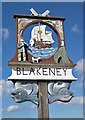 TG0244 : Blakeney village sign by Pauline Eccles