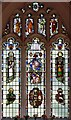 TL3655 : St Andrew, Toft - Stained glass window by John Salmon