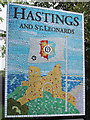 TQ7913 : Hastings and St. Leonards sign, A21 Ebden's Hill by Oast House Archive
