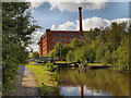 SJ8699 : Rochdale Canal, Coalpit Higher Lock and Victoria Mill by David Dixon