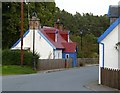 NH9022 : Houses in Station Road, Carrbridge by Walter Baxter