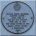TR0161 : Plaque on Bridge House, Faversham by David Anstiss