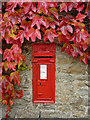SD8998 : Victorian postbox and Virginia creeper, Thwaite by Karl and Ali