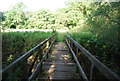TQ0438 : Footpath over the River Wey by N Chadwick
