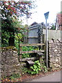 SP7433 : Somewhat overgrown footpath through to Back Street by Philip Jeffrey