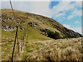 NN6448 : Up the fence towards Meall Garbh by Richard Law