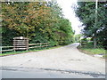 TQ0082 : The entrances to Saw Mill Cottages on Black Park Road by David Howard