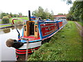 SJ8934 : Working Narrow Boat Hadar moored at Bridge No.96A, Stone by Keith Lodge