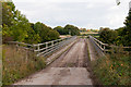 SU5033 : Bridge over M3 motorway on Grace's Farm by Peter Facey