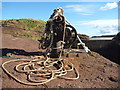NT6084 : Coastal East Lothian : Winch and Ropes at Seacliff Harbour by Richard West
