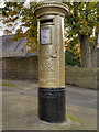 SK0680 : Gold Postbox, Chapel-en-le-Frith by David Dixon
