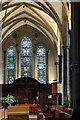 TQ3181 : Altar and Stained Glass Window, Temple Church, London EC4 by Christine Matthews