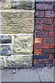 SE3320 : Benchmark on wall of Park Hill Walk by Roger Templeman