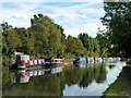 TQ1784 : Moored boats, Grand Union Canal by Robin Webster