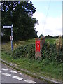 TM3384 : Roadsign & St.Peter Edward VII Postbox by Adrian Cable