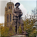 SJ8791 : Soldier Statue, Heaton Moor War Memorial by David Dixon